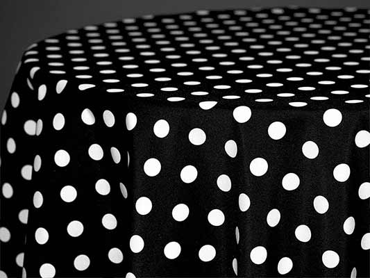 Polka Dot Linen Amp Tablecloths B Amp B Party Rental