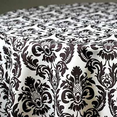 damask linen & tablecloth rentals