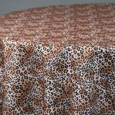 leopard linen & tablecloth rentals