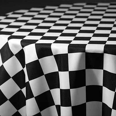 racing check linen & tablecloth rentals