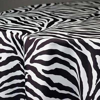 zebra linen & tablecloth rentals