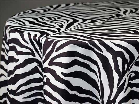 Zebra Linen Amp Tablecloths B Amp B Party Rental