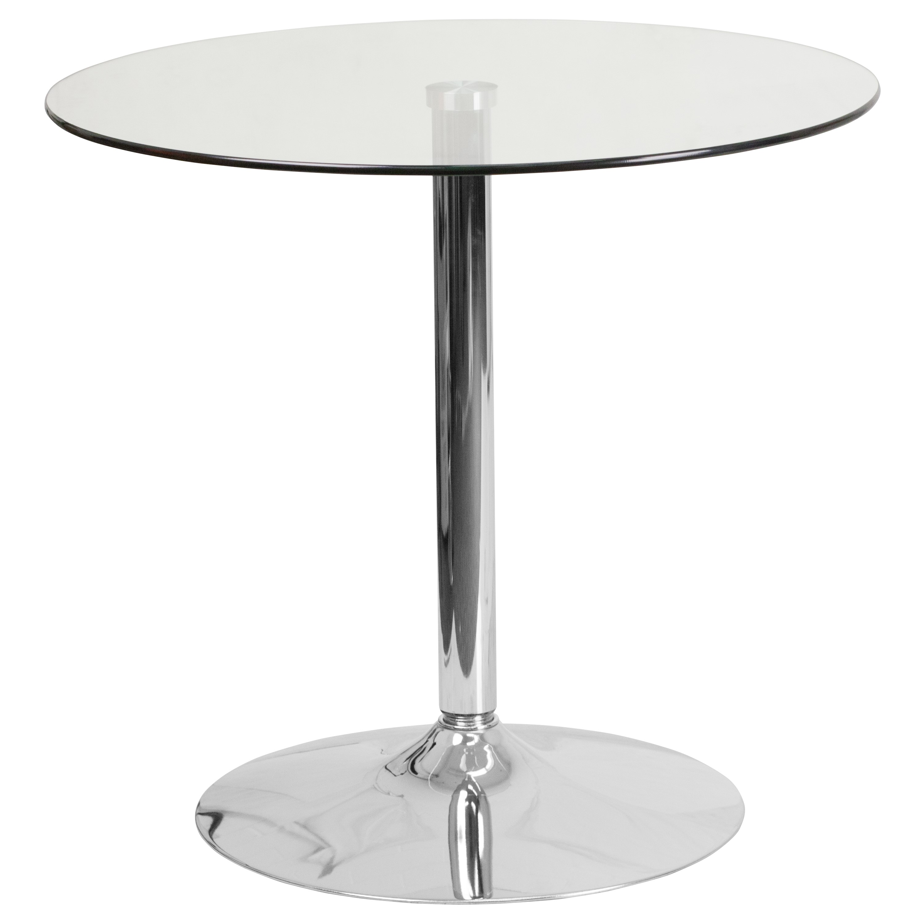 Ghost Glass Round Cocktail Table