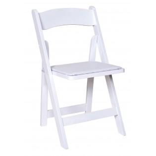 White Garden Padded Chair Rental