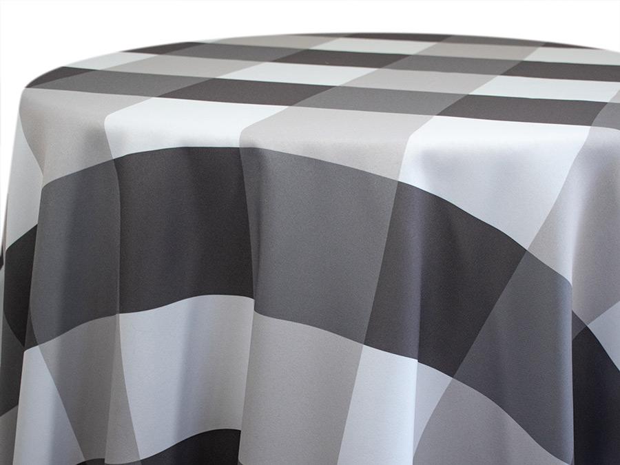 Grey Big Plaid Tablecloth Rental B Amp B Tent Amp Party Rental